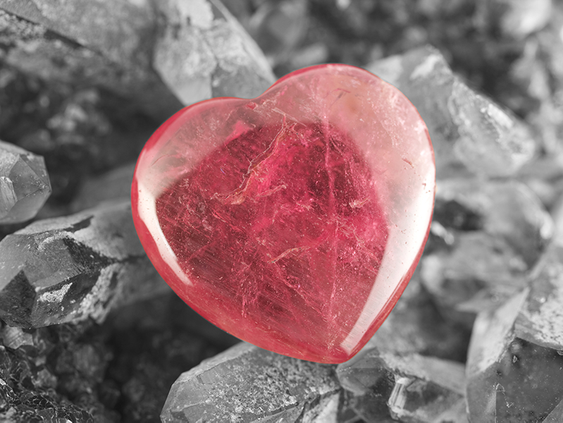 Red Crystal Heart of Love